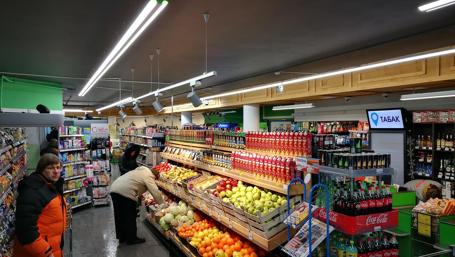 Проект освещения супермаркета