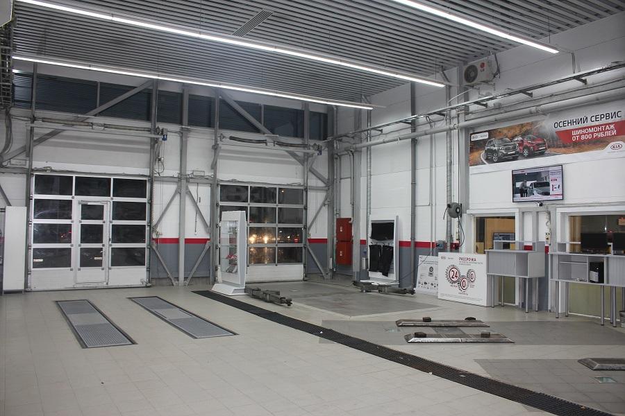 Проект освещения автоцентра Аларм Моторс
